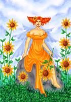 Sunflower Faerie by ArunaWolf