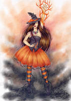 Halloween witch by ArunaWolf