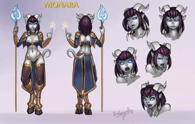 Monara character sheet 2.0 by DrGraevling