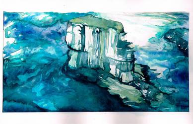 Watercolor Landscape by RubisFirenos