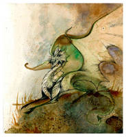 The Wise Green Dragon O Ka Fee by RubisFirenos