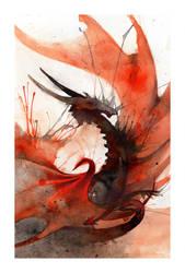Ink Dragon II by RubisFirenos