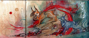 Japanese Painting - Miago by RubisFirenos