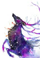 Galaxy Deer by RubisFirenos