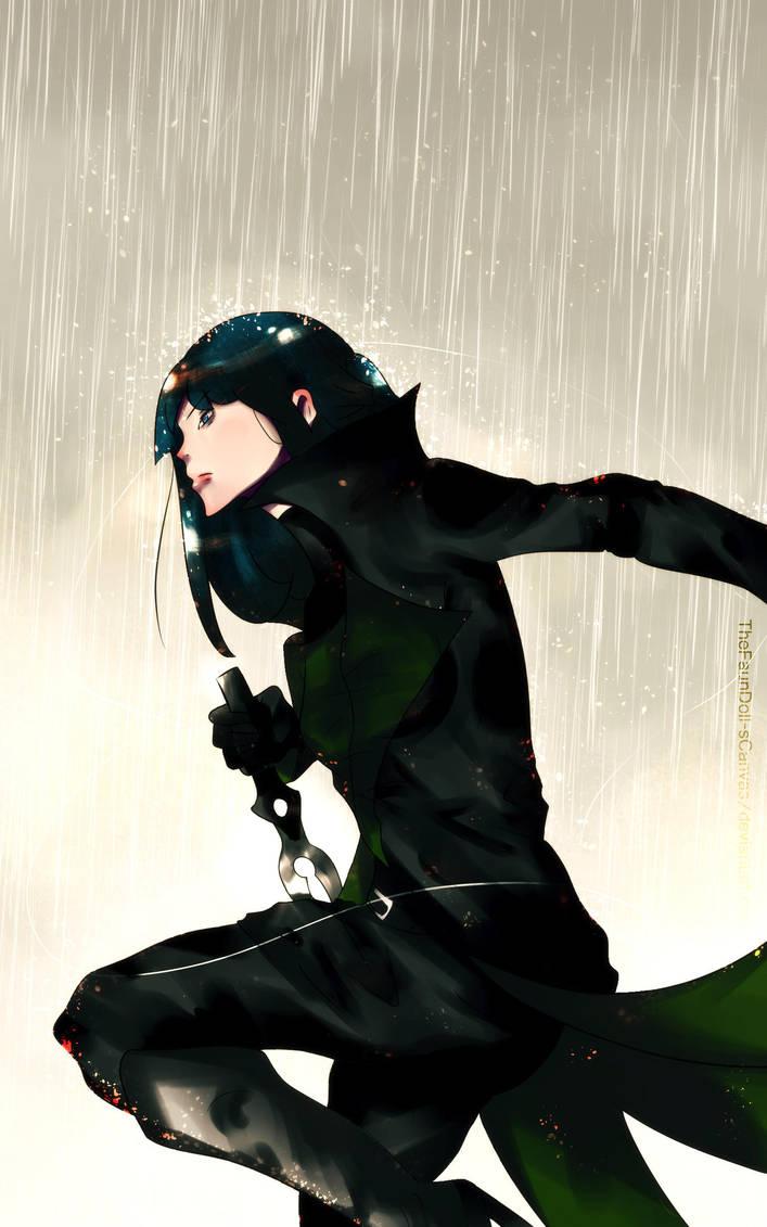 ~OC: Fight in the Rain~ by TheFaunDoll-sCanvas