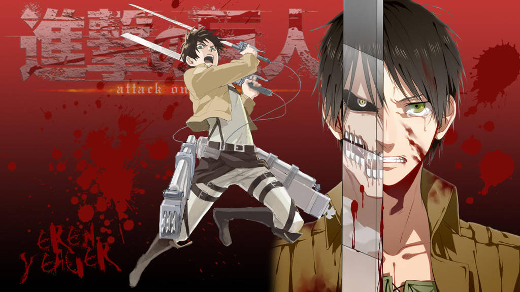 Shingeki No Kyojin Eren Yeager Wallpaper By Yugoku Chan On Deviantart