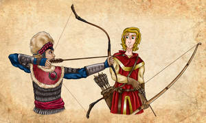 Medieval Archery - Commission by Pelycosaur24