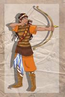 Assyrian Archer by Pelycosaur24
