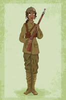 Historical Disney Warrior Princess - Tiana by Pelycosaur24