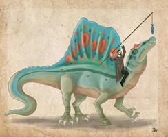 Ernst Stromer an his Spinosaurus by Pelycosaur24