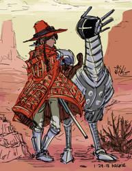Desert Sniper Gal by kalkie