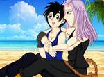 B-day Gift: Elery and Trunks at the Beach by AsherahQueenofHeaven