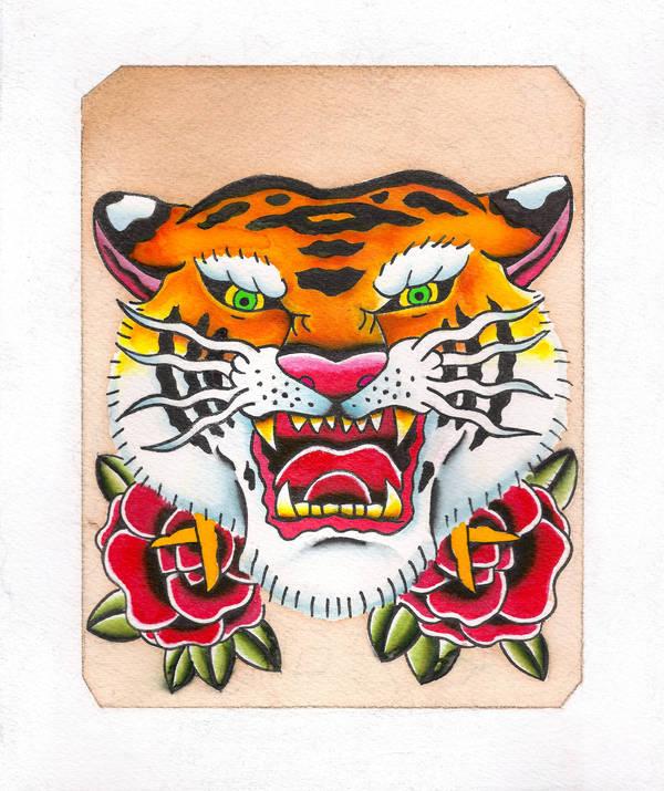 Tiger Head Tattoo Design By Jaimie13 On Deviantart