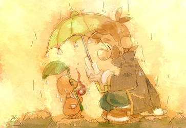 Share an umbrella. by Uroad7 by Uroad7