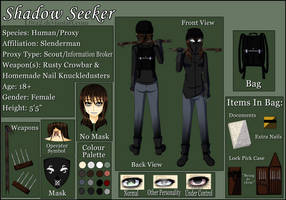(Horror/Slenderverse)Shadow Seeker Reference Sheet by L0ra2