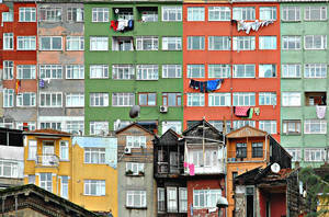 colourful houses by ugurers