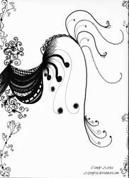 #13 Zendoodle Drawing by Aizenfree