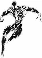 SPIDERMAN-BLACK DESIGN-1 by THEHITMANHORTON
