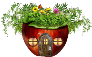 PNG APPLE HOUSE by Moonglowlilly