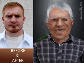 BEFORE AND AFTER ( AGING ) by Moonglowlilly