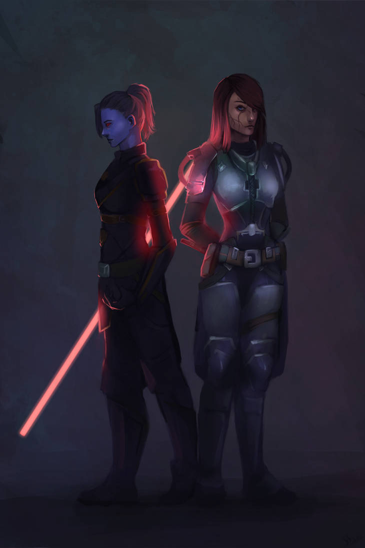 (Commission)Star Wars The Old Republic clan poster by NetrialisPL