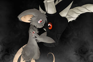 Mouse and Dragon by FirePheonyx