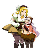 Mami and Nagisa by DMXrated