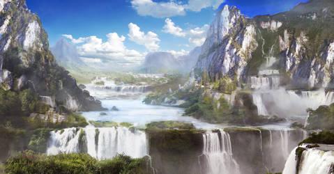 Waterfall Valley by jordangrimmer
