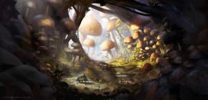 Mushroom Land by jordangrimmer