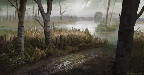 Marshland Path by jordangrimmer