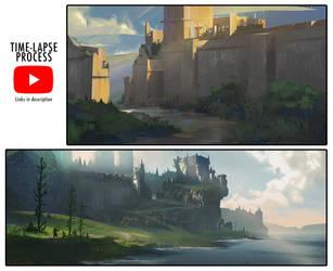 Landscape Sketching Process Videos by jordangrimmer