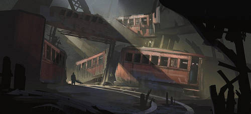 Train Graveyard + Process by jordangrimmer