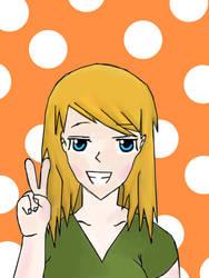 Anime Girl Peace Sign By Konatabation On Deviantart