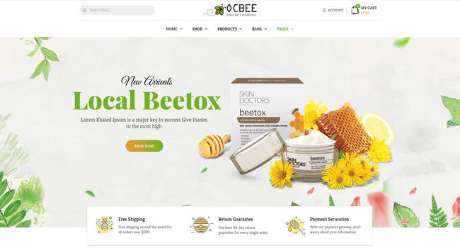Ocbee Honey Bee Production WooCommerce Theme by WPOPAL