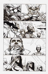 My inks over more of J. Opena's Infinity pencils by M-Harper