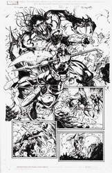 My inks over S.J. Segovia's Ares pencils by M-Harper