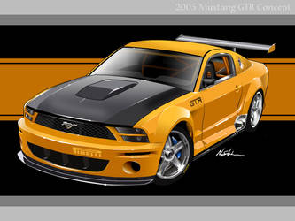 2005 Mustang GTR Concept by nerostorm