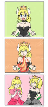 Bowsette and Peach - Comic by Makavp