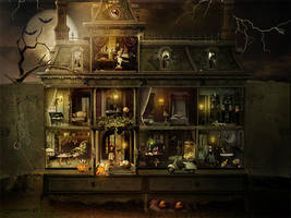 Dollhouse Halloween by SoulcolorsArt
