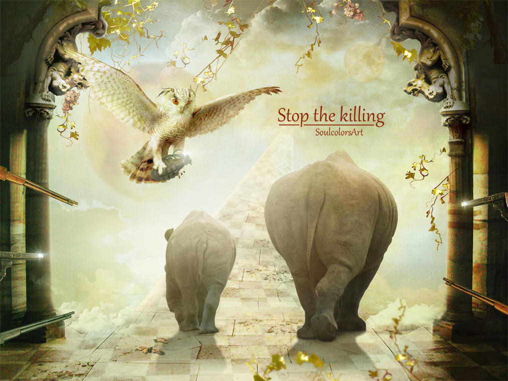 Stop the killing of these animals by SoulcolorsArt