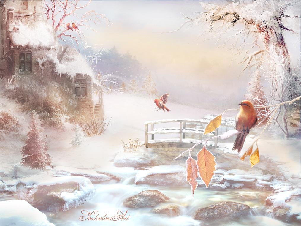 Christmas birds by SoulcolorsArt