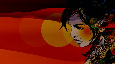 The Girl With The Red and Yellow Eyes by J9qw