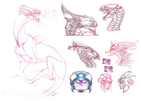 Various sketches by FlorenceAndTheDragon