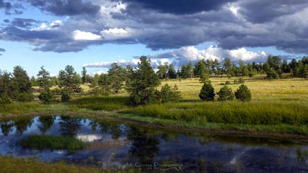 Hwy 9 lake reflections, Colorado by AGalWithACamera