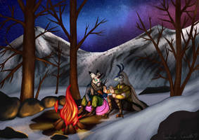 [ YCH AUCTION - FINISHED] Winter camping by TheMarchef