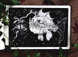 Sketchbook | Anglerfish by CinnamonDevil