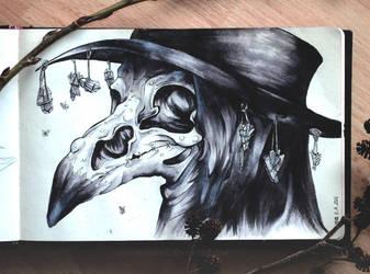Sketchbook | Plague Doctor by CinnamonDevil