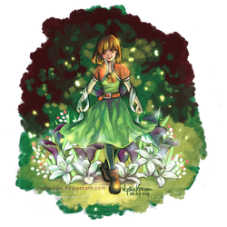 [Comm] Garden of Lilies by lydia-san