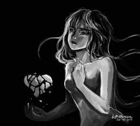 Broken Heart [speedpaint] by lydia-san