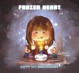 Happy 1st Anniv, Frozen Heart by lydia-san